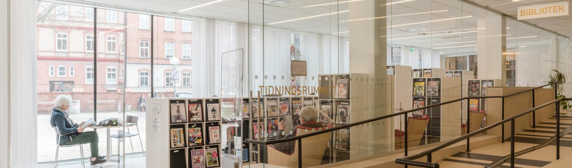 Kristianstads Stadsbiblioteks tidningsrum