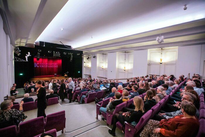 Stora salen på Kulturkvarteret Kristianstad fullsatt